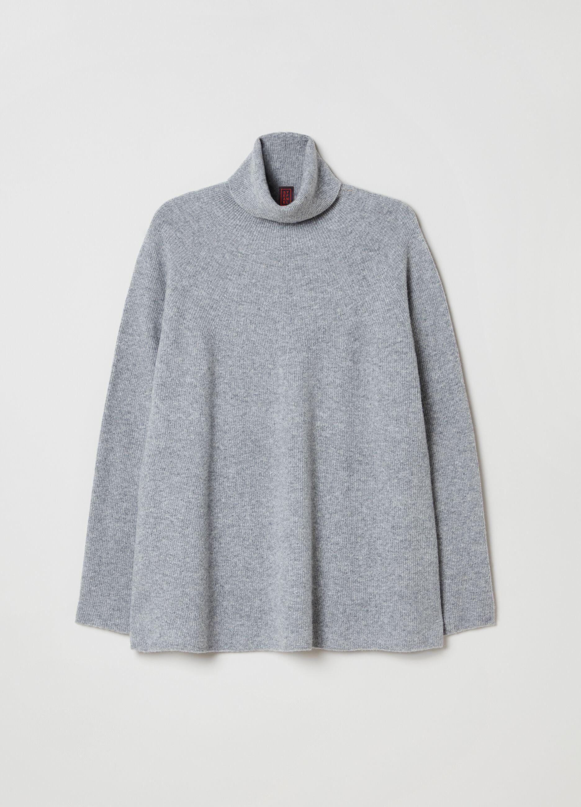 Maglia a collo alto in pura lana vergine Grigio