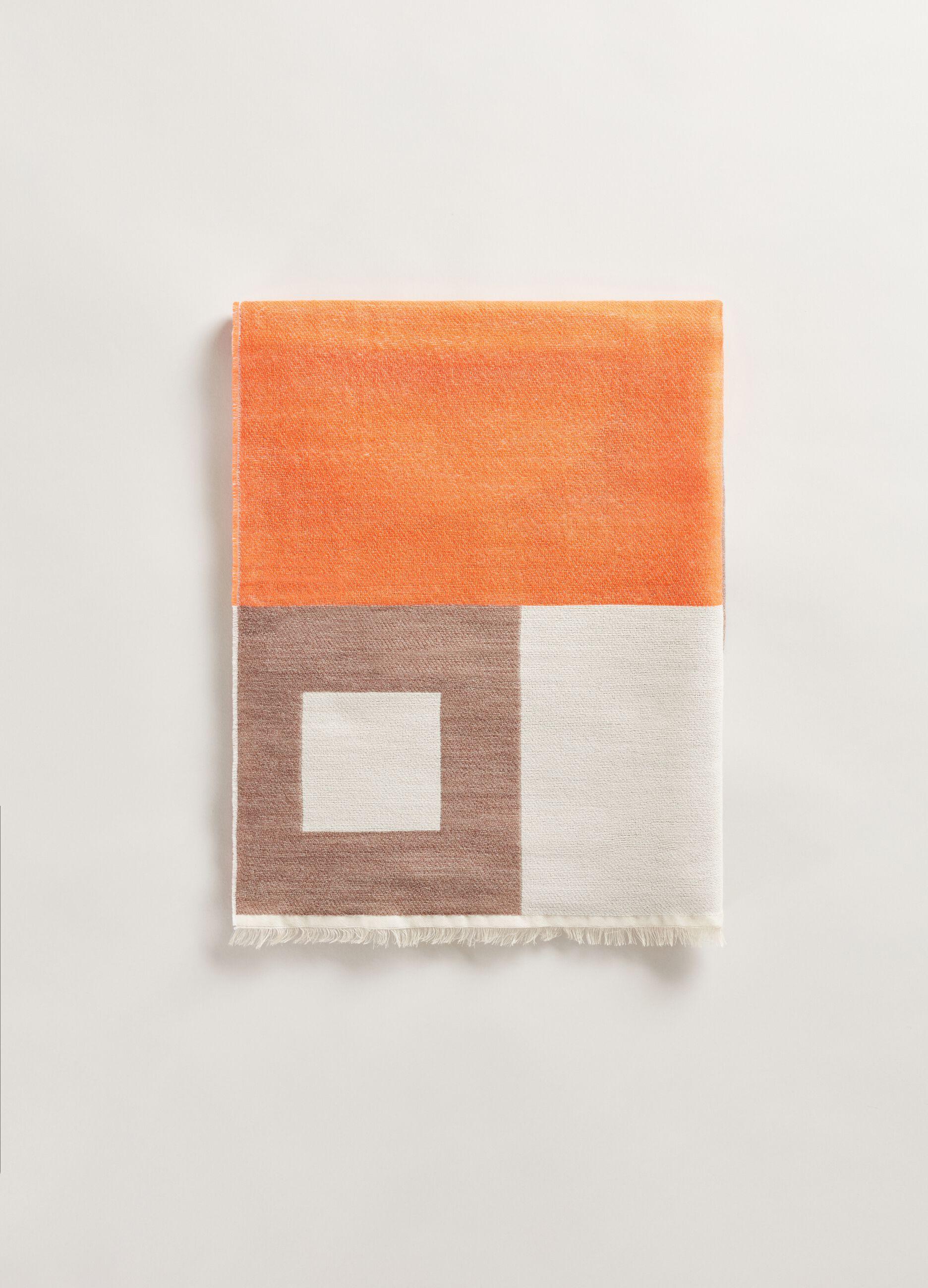 Sciarpa in lana e modal fantasia Multicolor