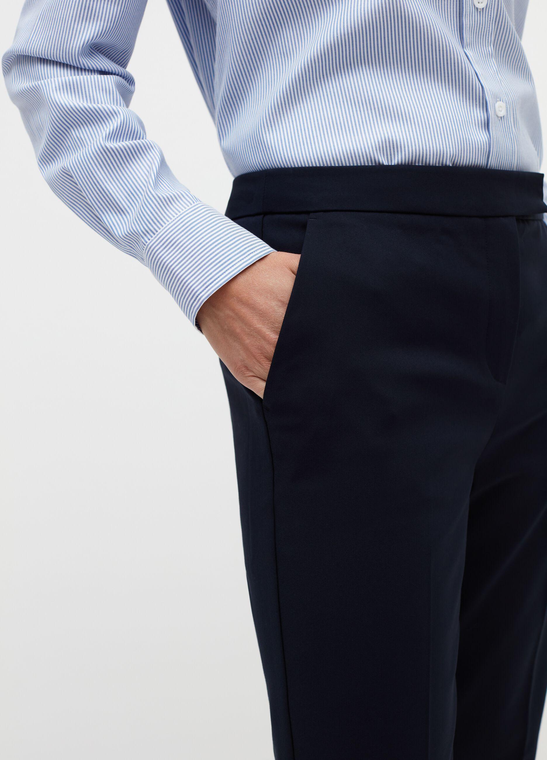 Pantalone in tessuto strutturato Blu