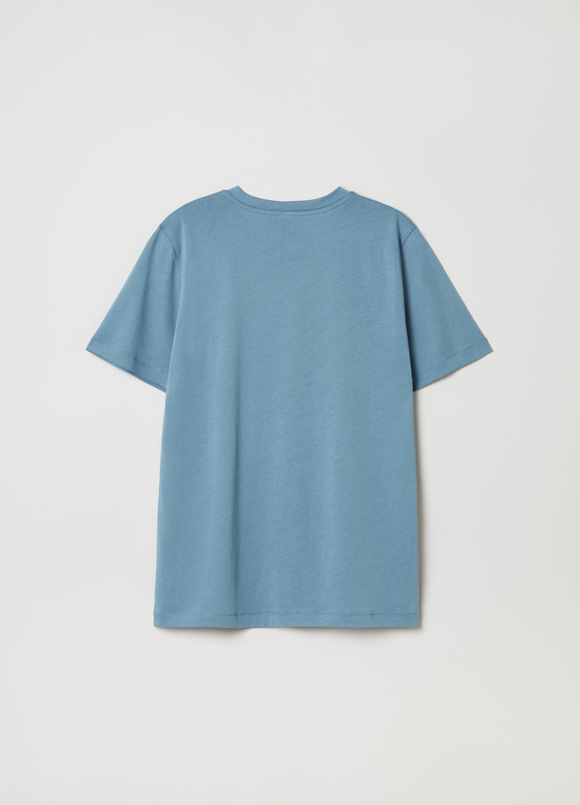T-shirt in cotone Supima Blu