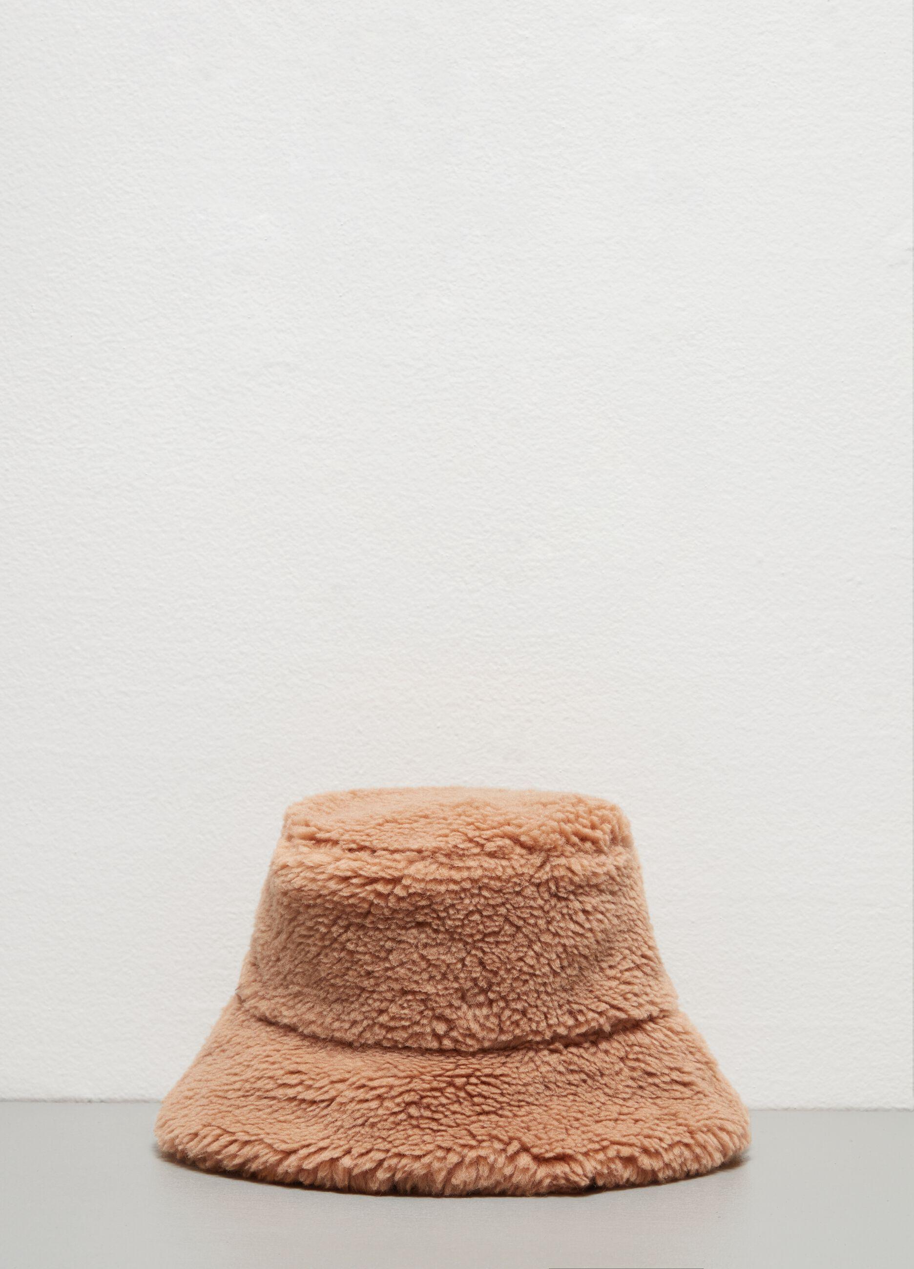 Cappello teddy a secchiello Marrone