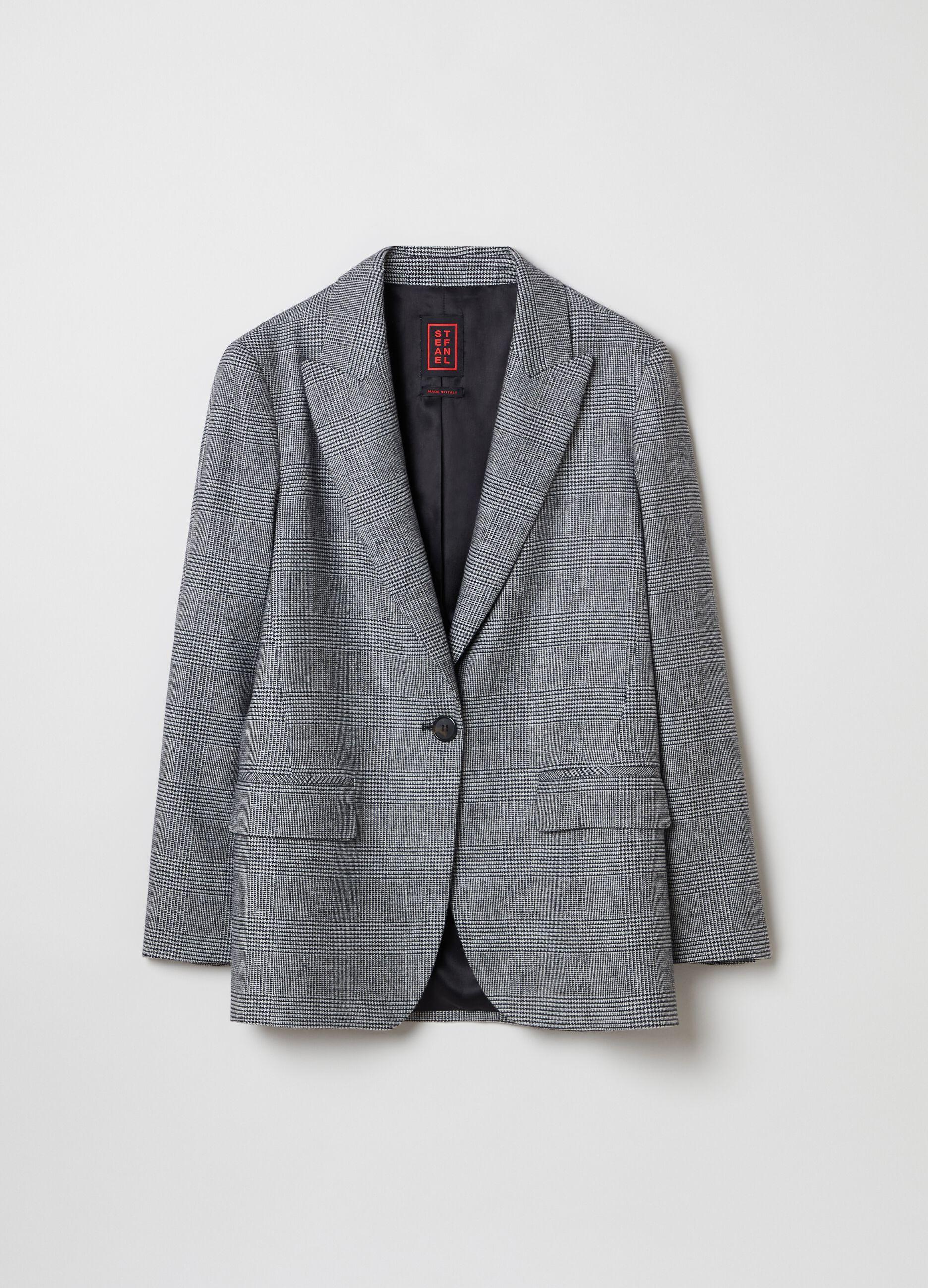 Long blazer in Prince of Wales check Multicolor