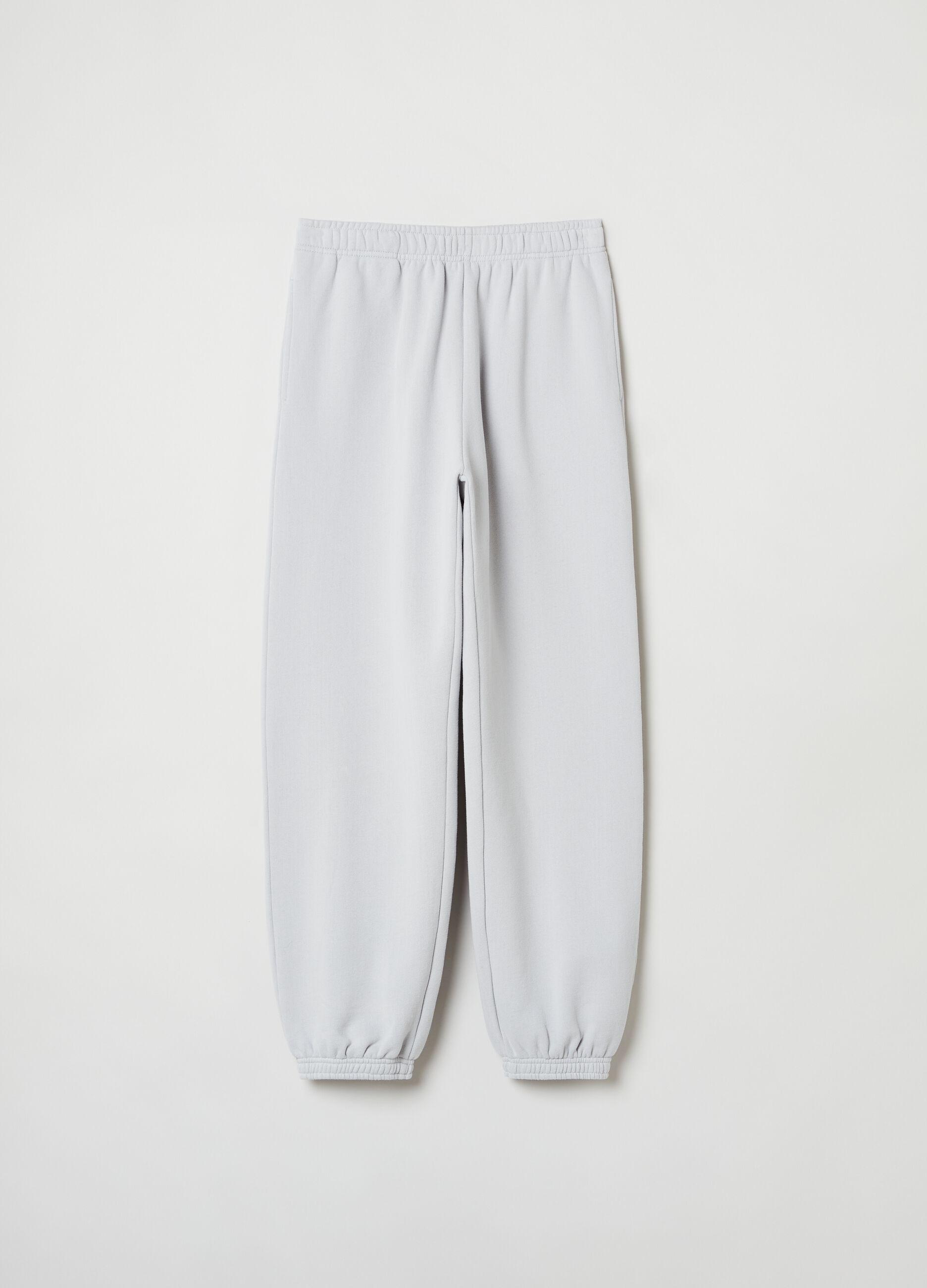 Pantalone jogging in felpa Grigio
