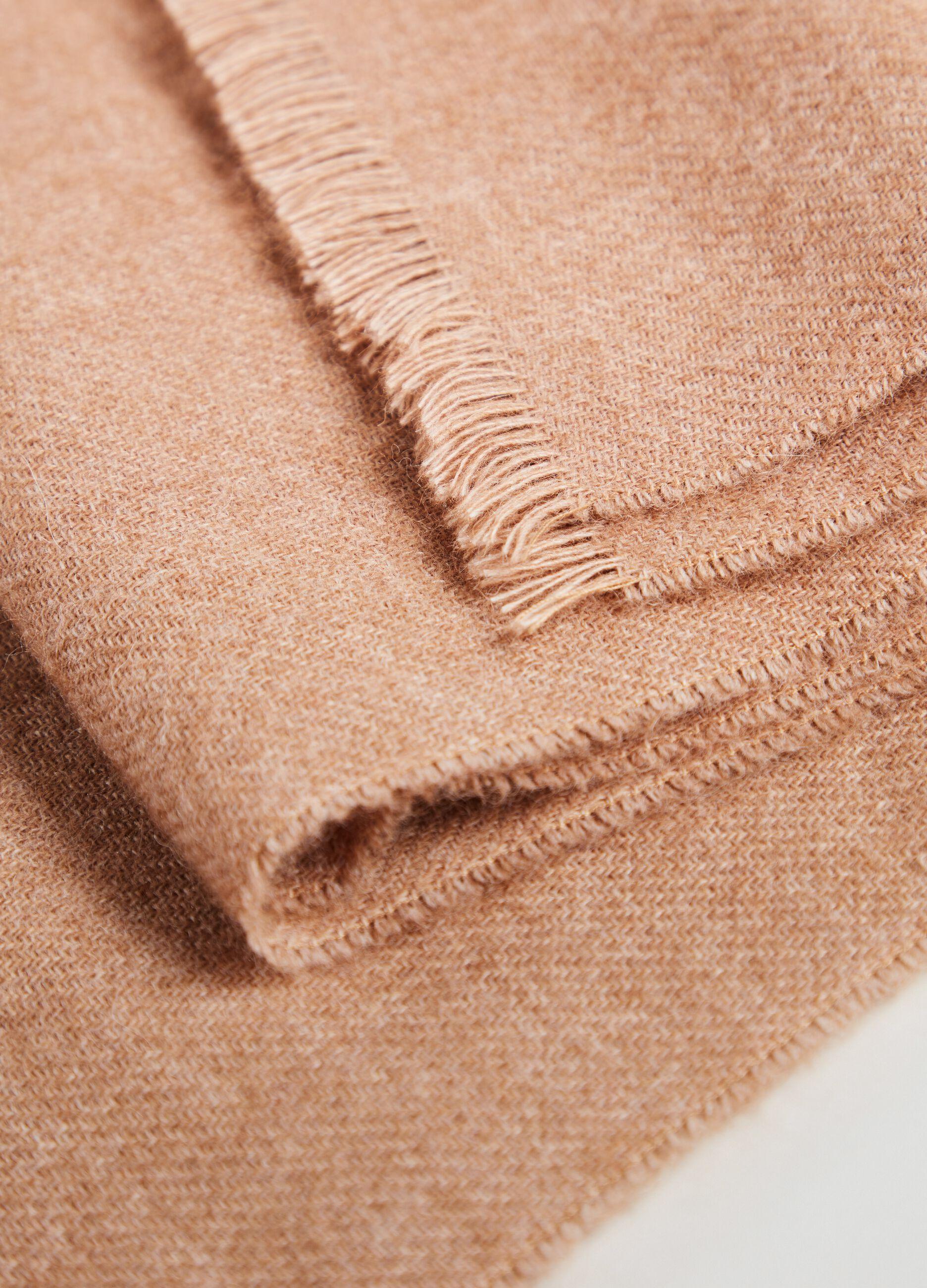 Sciarpa in lana e alpaca Beige