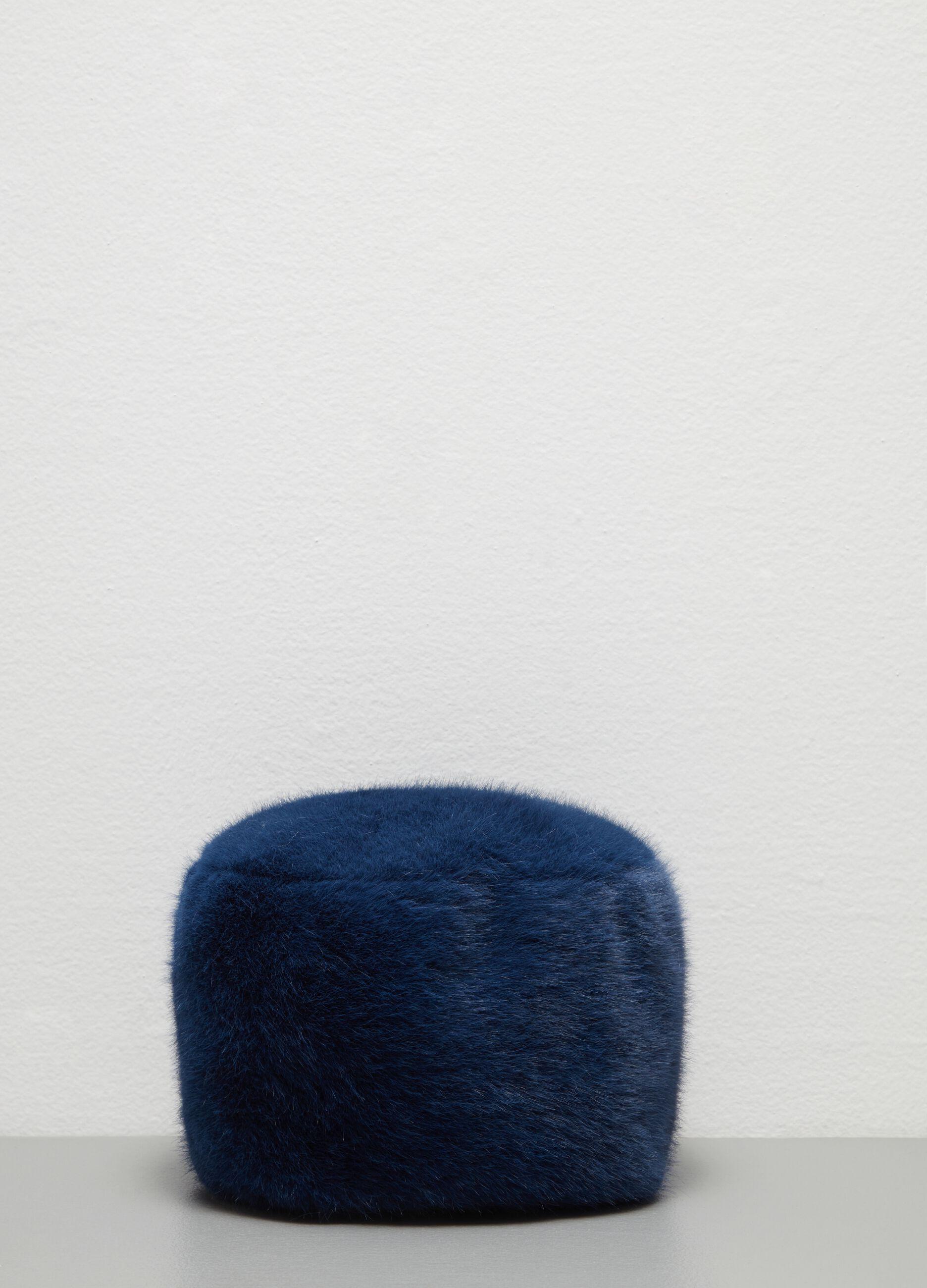 Colbacco in eco pelliccia Blu