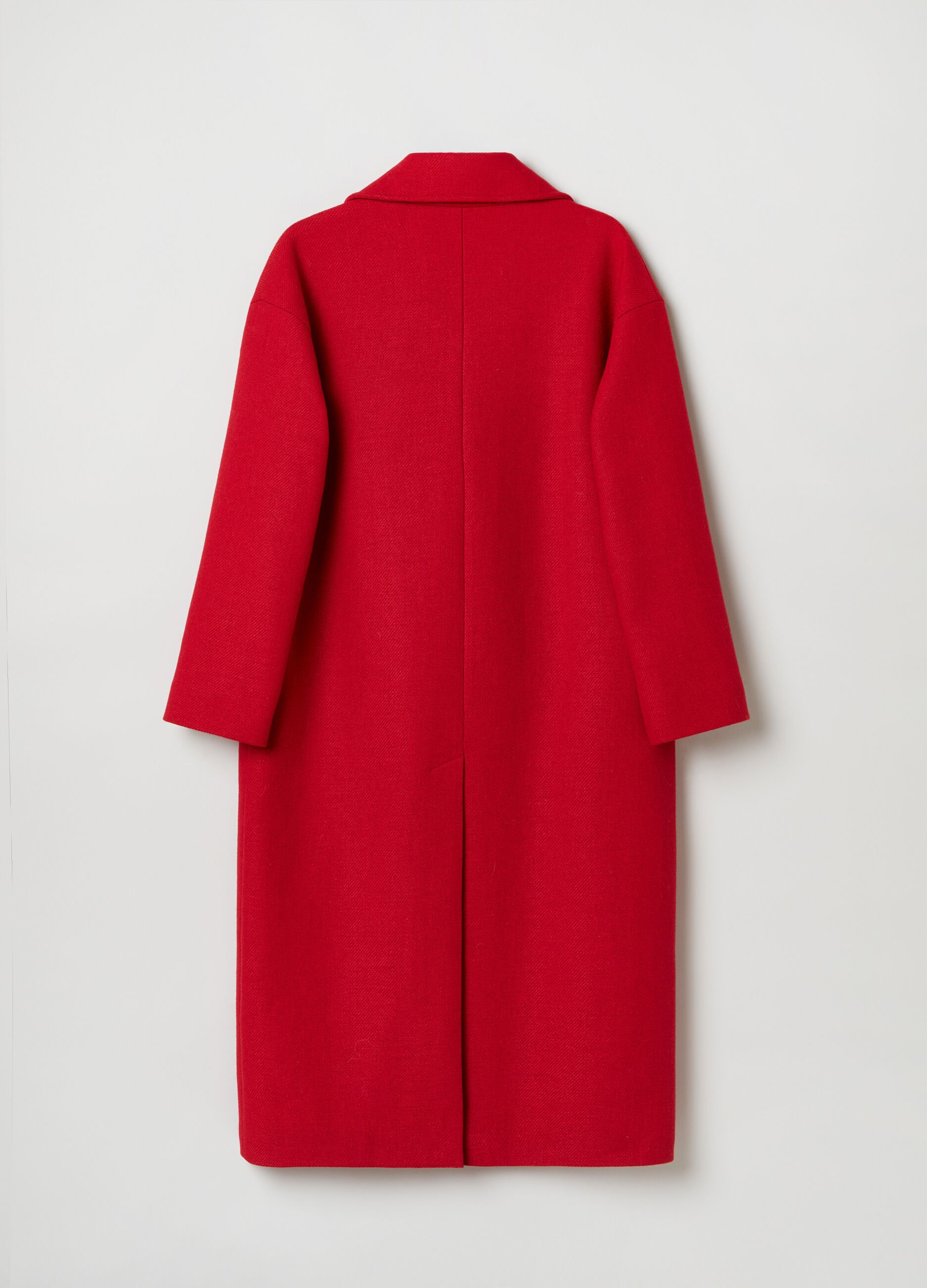 Long coat with lapels Red