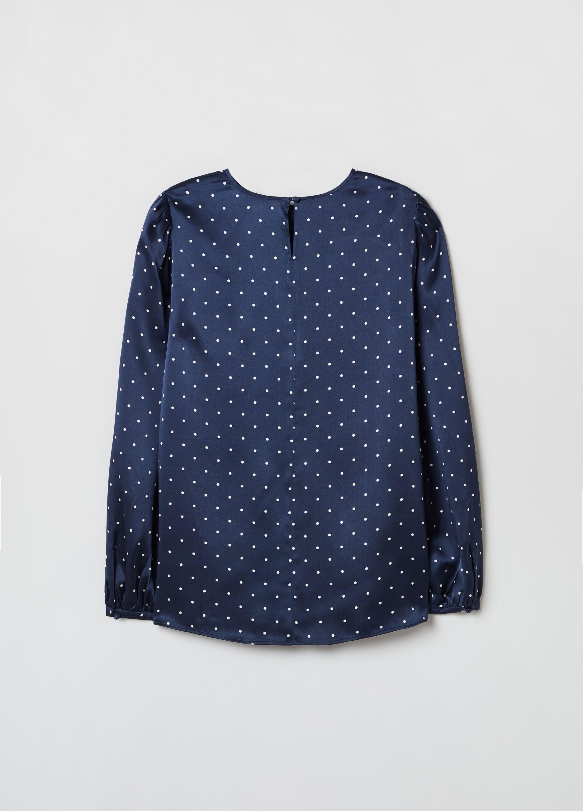 100% silk satin blouse Multicolor