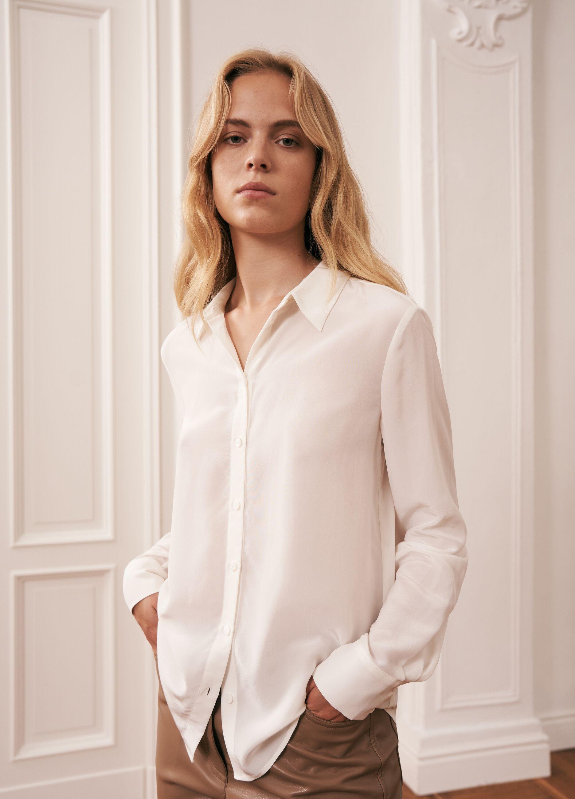 Camicia in seta Bianco