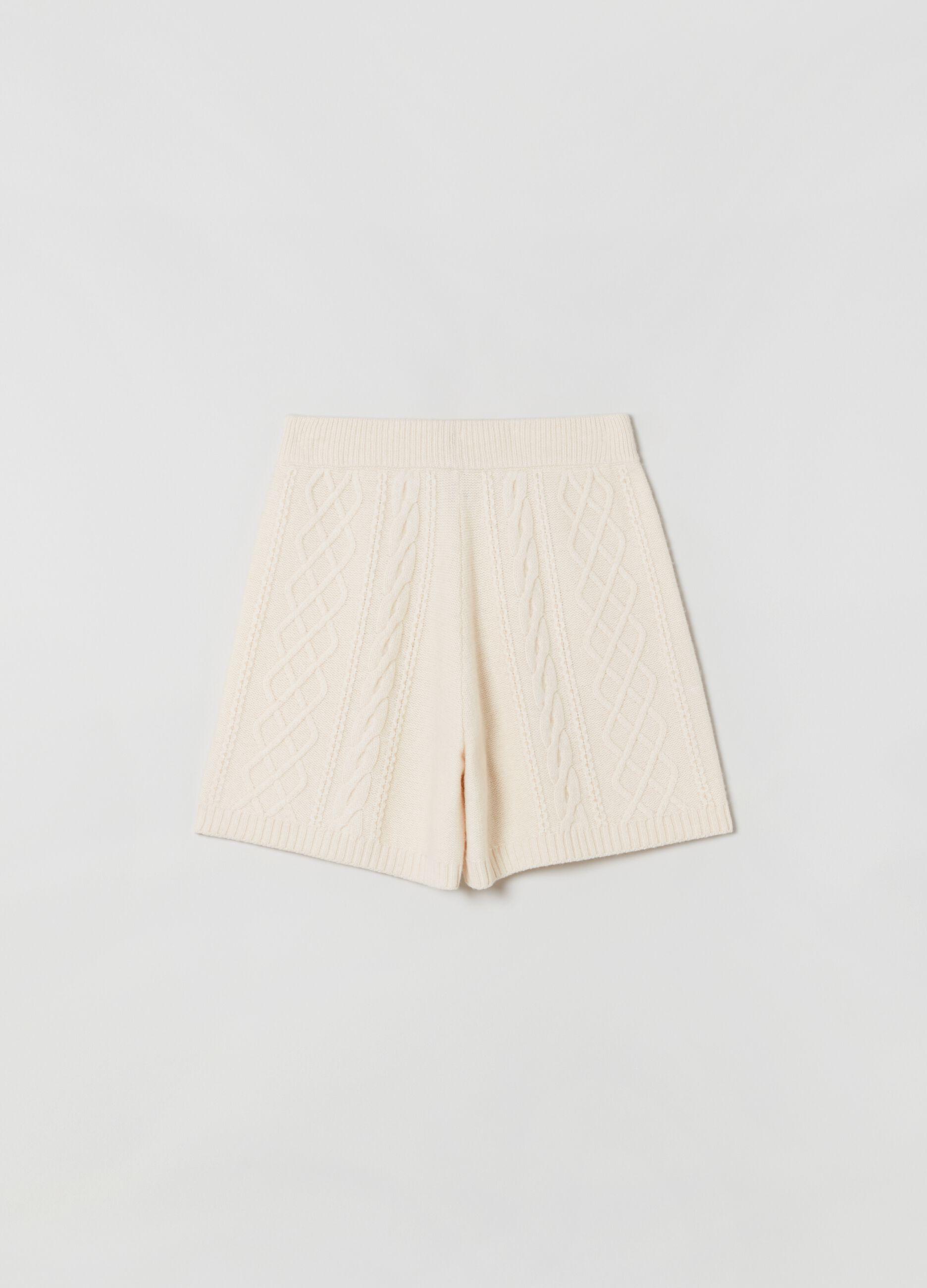Shorts in maglia Bianco