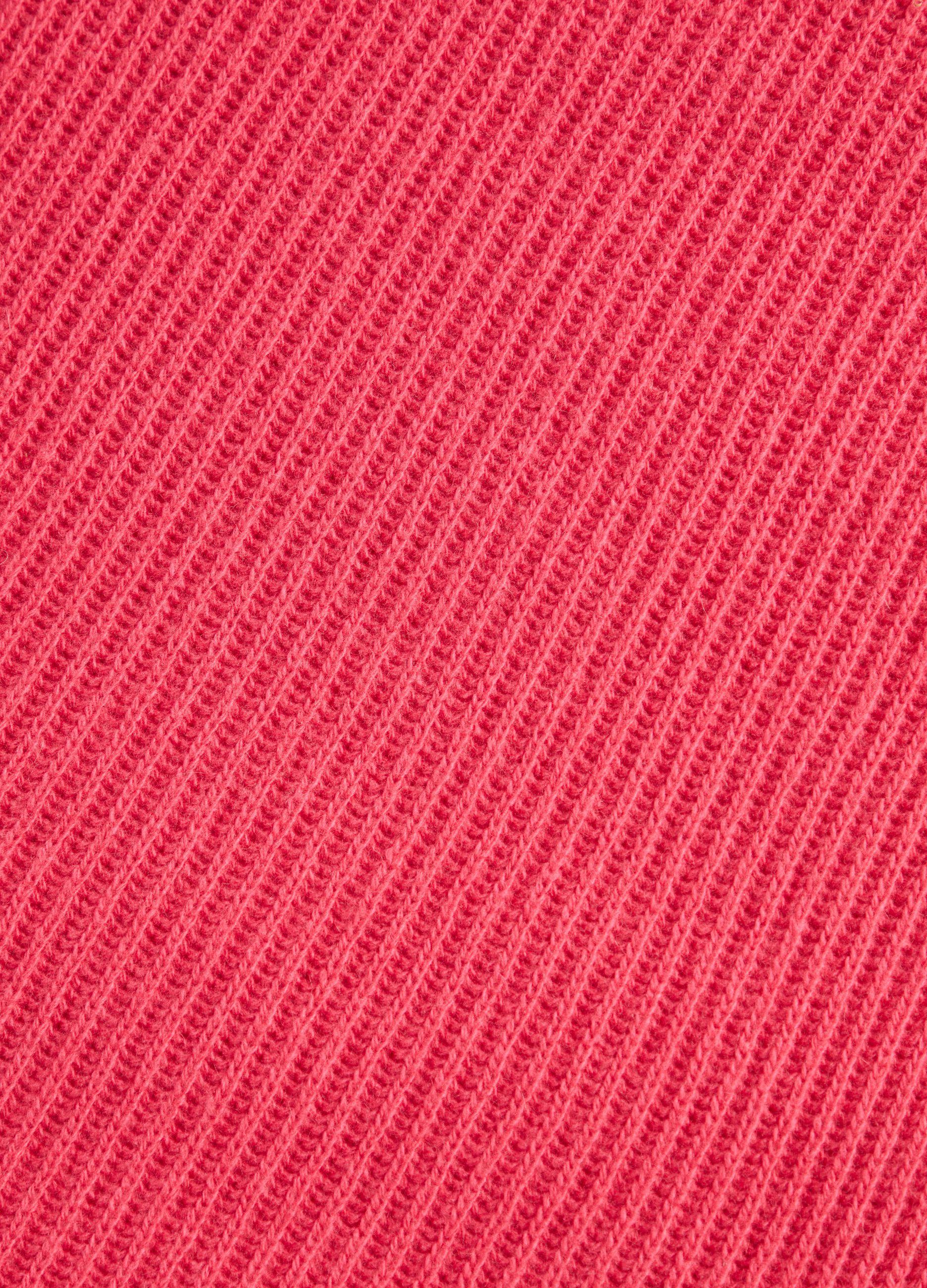 Sciarpa in lana e cachemire a coste Rosa