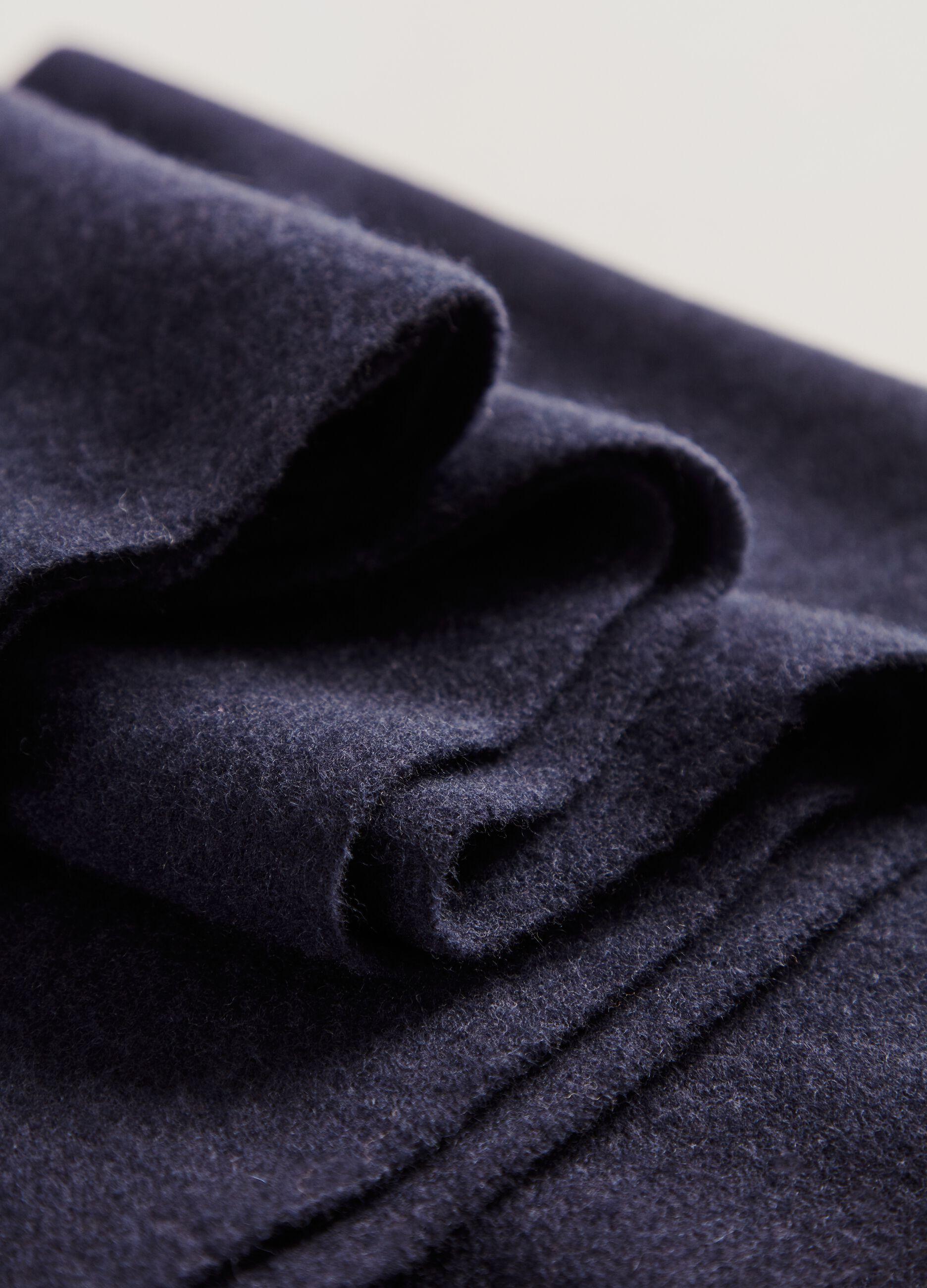 Maxi sciarpa in pura lana vergine Blu