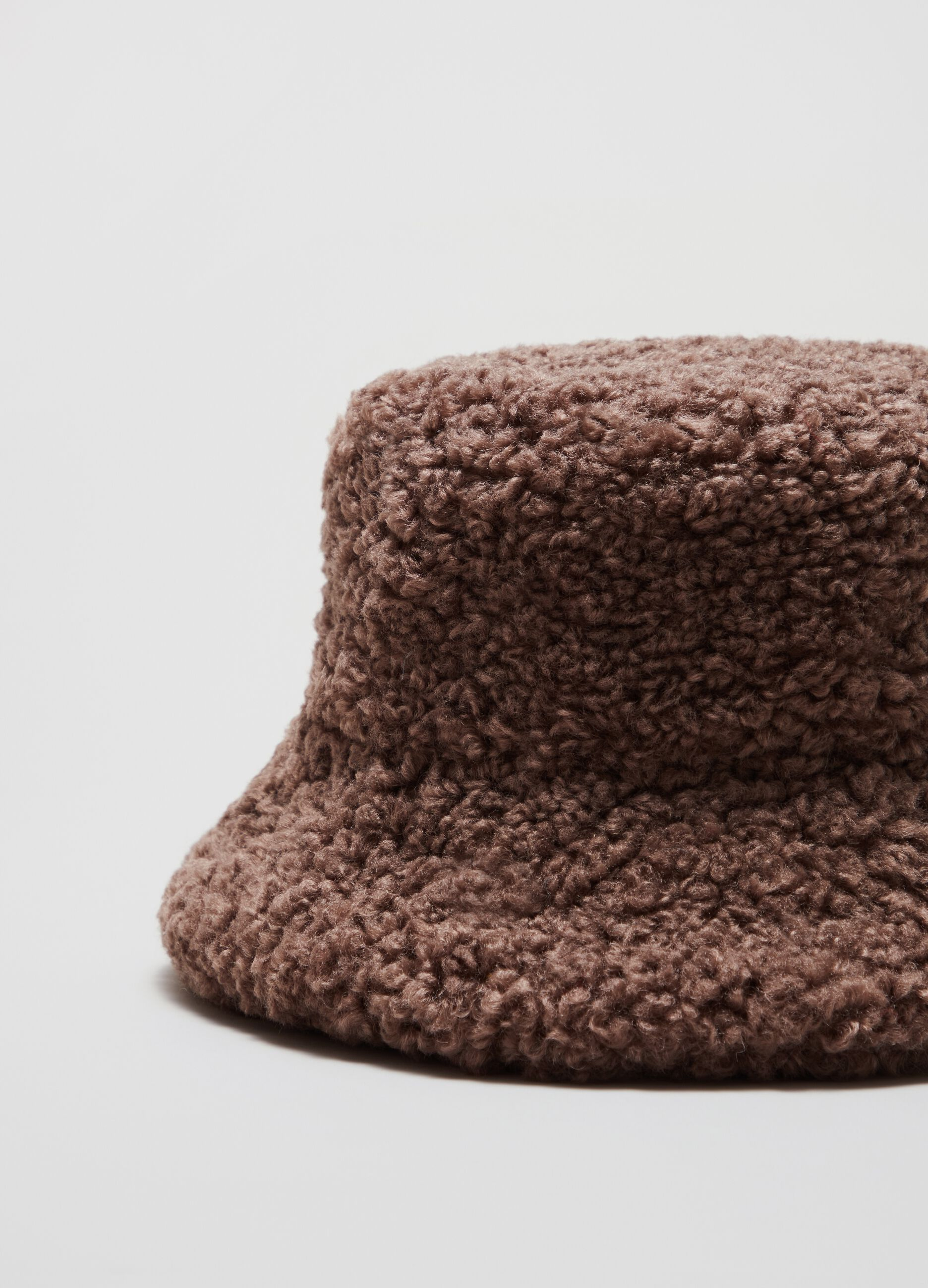 Teddy bucket hat Grey