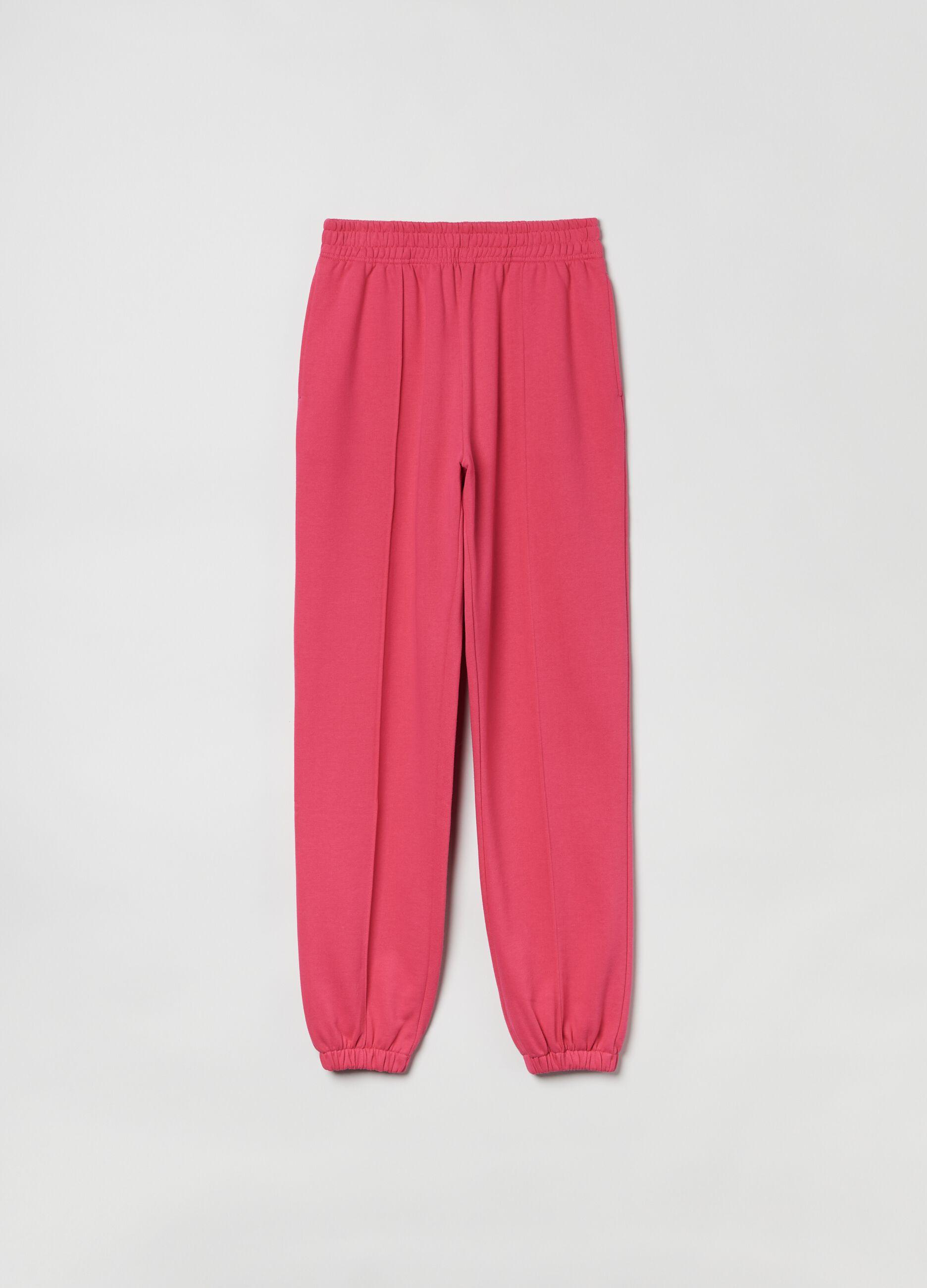 Pantalone in felpa bold color Rosa