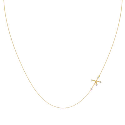 Southern Cross Diamond Necklace in 14K Yellow Gold, , large image number null
