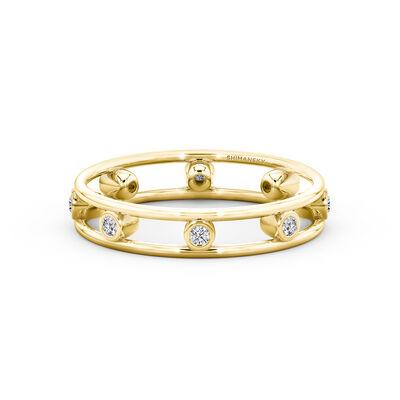 Caesar Circle Diamond Ring in 18K Yellow Gold, , large image number null