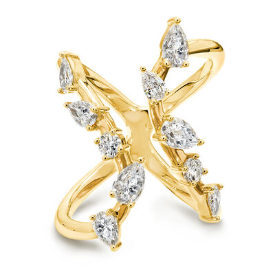 Flamenco Diamond Ring in 18K Yellow Gold, , large image number null